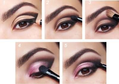 Мастер-класс вечернего макияжа в розово-сиреневых тонах