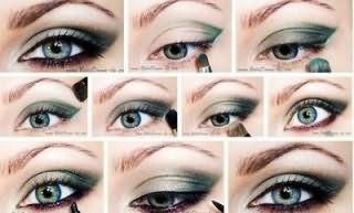 Технология нанесения макияжа для серых глаз.