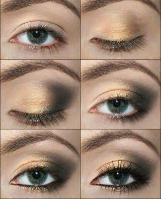 Пошаговое нанесение макияжа серых глаз.