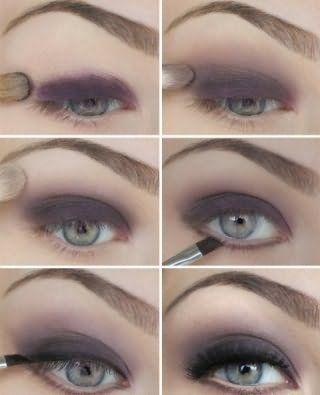 Техника выполнения макияжа серых глаз.