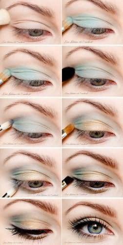 Технология выполнения дневного макияжа серых глаз.