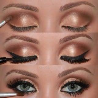 Технология создания макияжа для серых глаз.