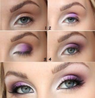Поэтапное выполнение макияжа для серых глаз.