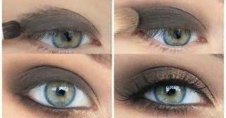 Вариант мейкапа для серых глаз.