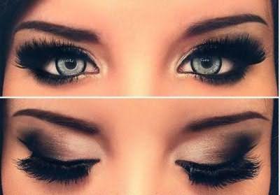макияж для серых глаз дневной вечерний