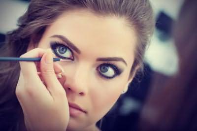 макияж вечерний для серых глаз