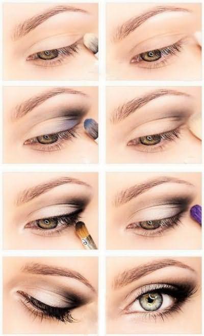 вечерний макияж для серых глаз пошагово