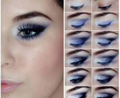 тени для серых глаз дневной и вечерний макияж