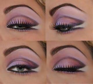 Яркий макияж для глаз серого цвета.