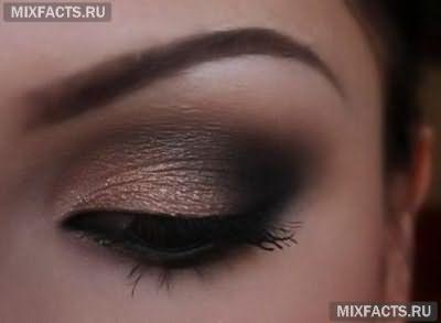 макияж для темных глаз нейтральными тенями