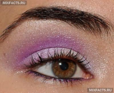 фиолетовые тени для темных глаз