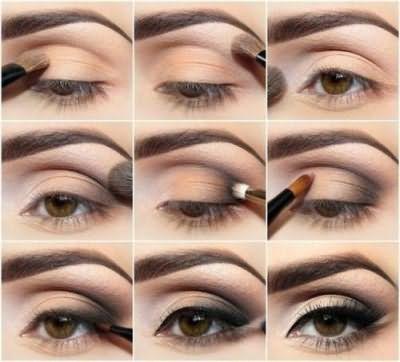 серые глаза темные волосы макияж