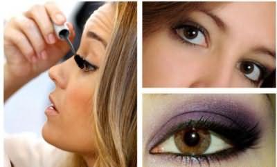 макияж зеленые глаза темные волосы