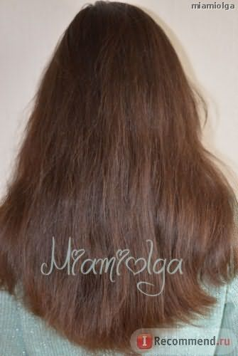 Волосы после масляной маски.