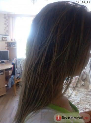 вот мои волосы примерно за месяц использования, мокрые и нерасчесанные!
