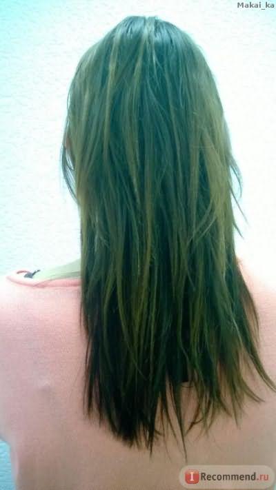 Волосы до применения ухода.