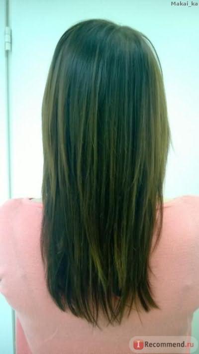 Волосы высушенные с помощью фена и расчески.