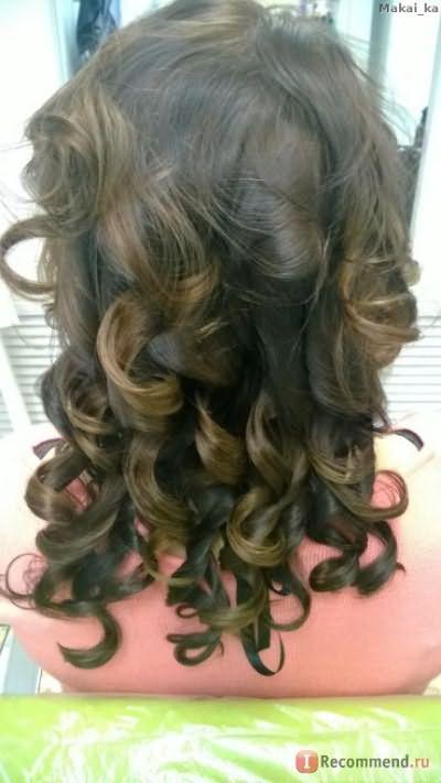 """Эти же волосы накрученные на """"утюг"""". Идеальный блеск и шелковые кудри!"""