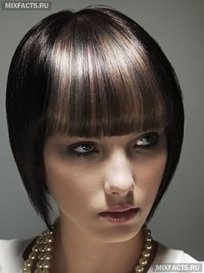 мелирование на черные волосы