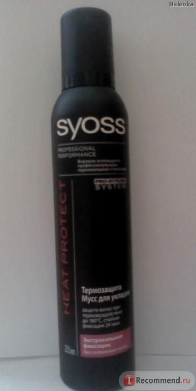 Мусс для волос SYOSS Термозащита мусс для укладки фото