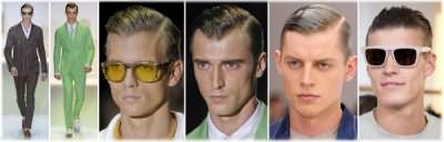 Варианты укладки: боковой пробор волос у мужчин.