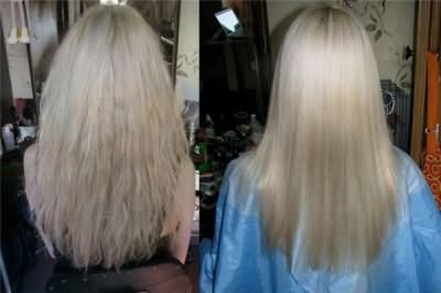 Эффект от ламинирования волос Эстель: до и после