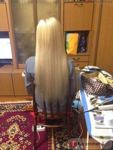 Первый комплект волос. самое первое наращивание