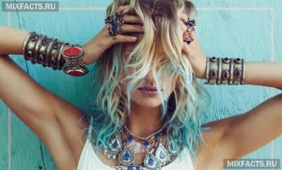 окрашивание волос цветными мелками фото