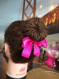 Вуаля! Необыкновенный пучок из длинных волос готов.