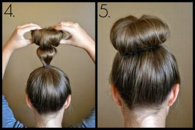 На фото хорошо видно, как нужно скручивать волосы