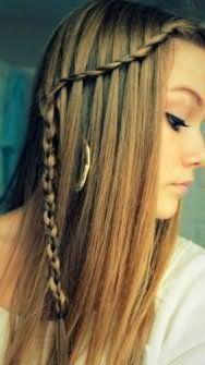 Прическа водопад на длинные волосы