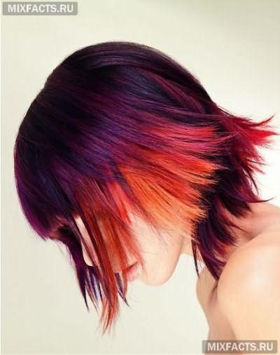 двутональное окрашивание волос фото