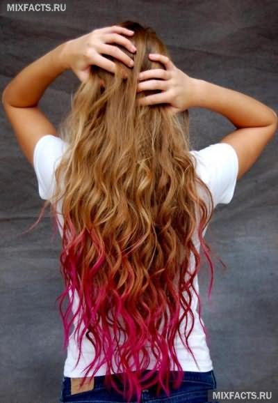 Омбре на рыжие волосы