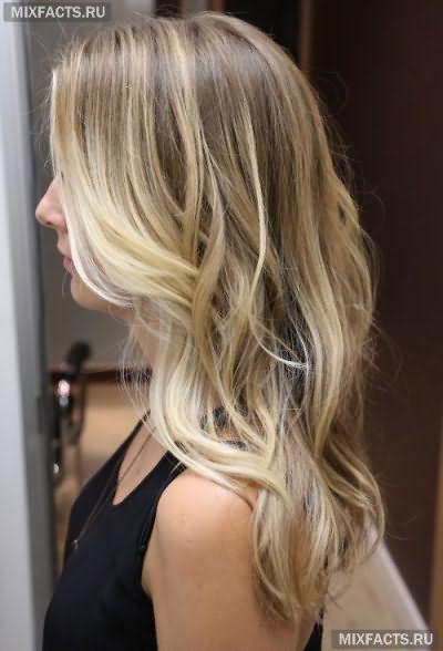 Окрашивание омбре на русые волосы