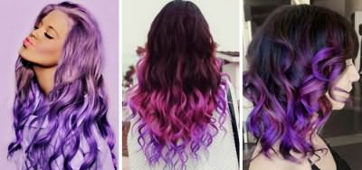 Фиолетовые переливы волос