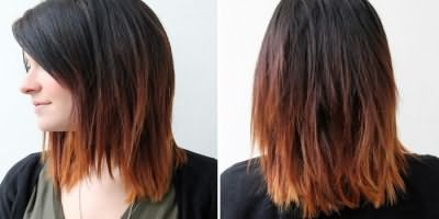 Окраска волос темного цвета