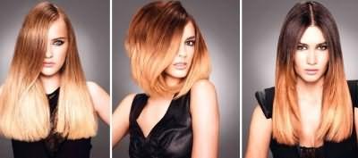 Варианты осветления кончиков волос