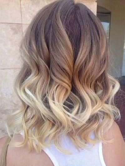 омбре на русые волосы средней