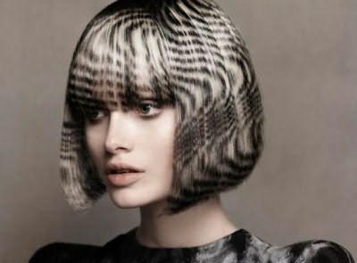 Художник-парикмахер на шевелюре может создавать целые картины