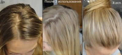 Обесцвечивание темных волос проводится в несколько этапов