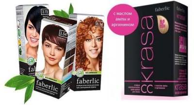 палитра красок для волос фаберлик