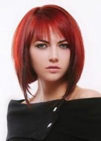 Короткие волосы светло-красного оттенка