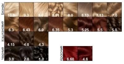 Каштановые оттенки в палитре краски для волос Garnier Olia