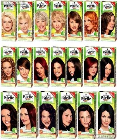 палитра цвета волос шварцкопф