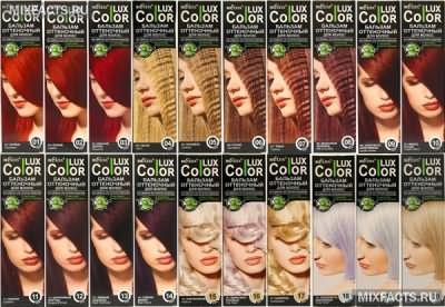палитра оттеночных бальзамов для волос