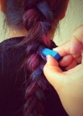 как покрасить волосы пастельными мелками