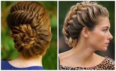 Улитка из косы – оригинальное решение