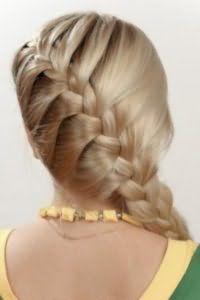Коса колосок для длинных волос.