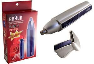 Триммер подходит для удаления «растительность» не только в ушах, но и в носу (модель Braun MP-300)