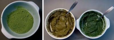 На фото показано, как выглядит средство в сухом виде и в готовом.